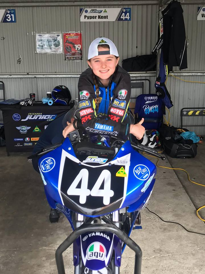 Pyper competes in Oceania Rookie Cup