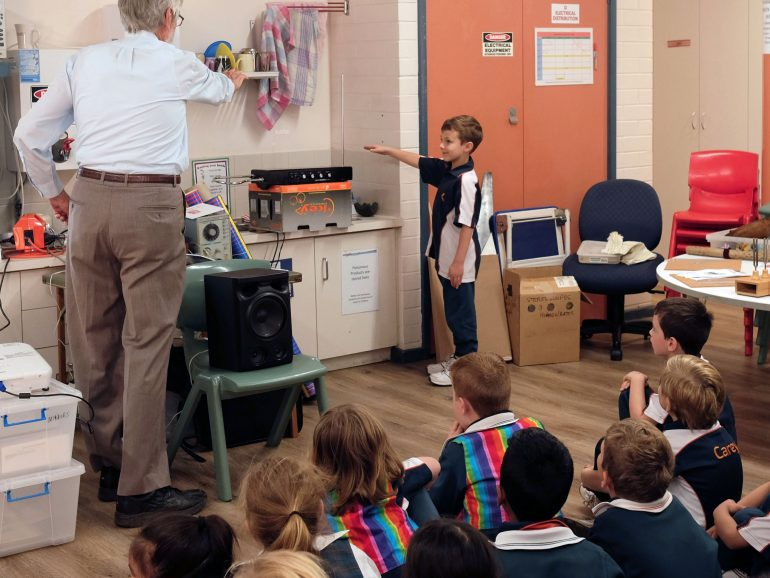 Year 1 students learn about Light and Sound