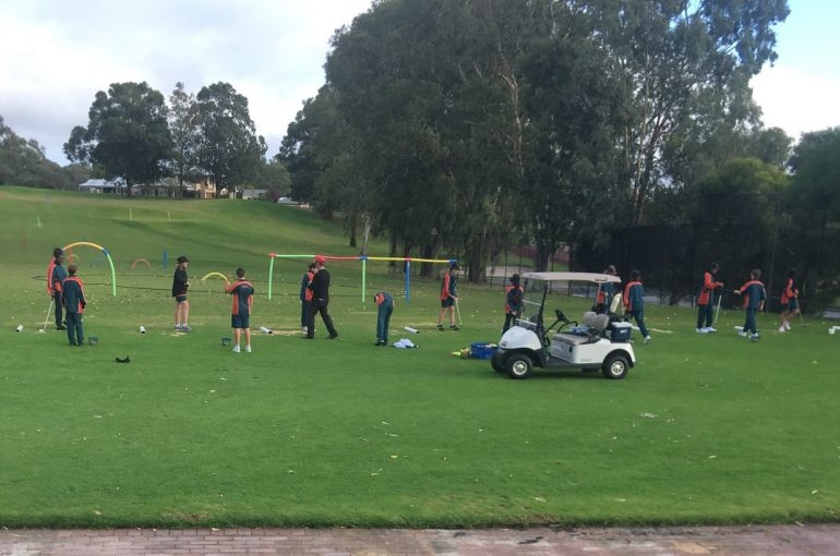Year 7 students learn Golf