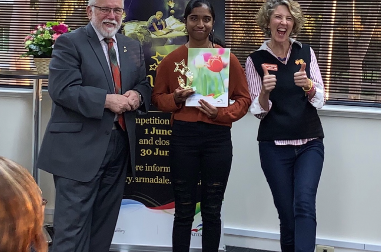 Sarah wins Armadale Young Writers' Award