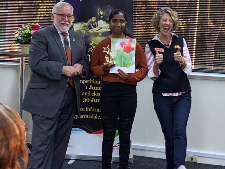 Sarah wins Armadale Young Writers' Award
