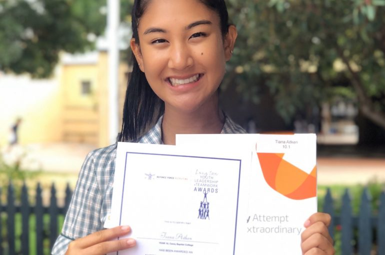 Tiana receives Australian Defence Force Award
