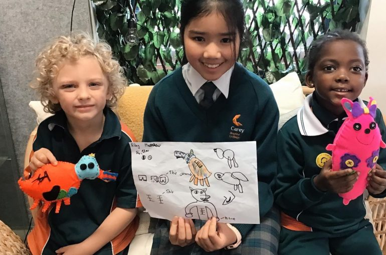 Year 8s Make Soft Toys for Pre-Primary